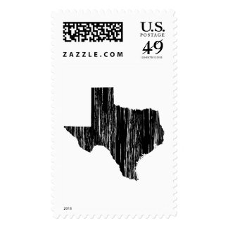Distressed Texas State Outline Postage Stamps