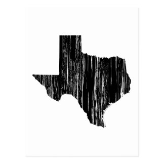 Distressed Texas State Outline Postcard