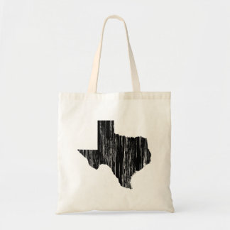 Distressed Texas State Outline Tote Bag