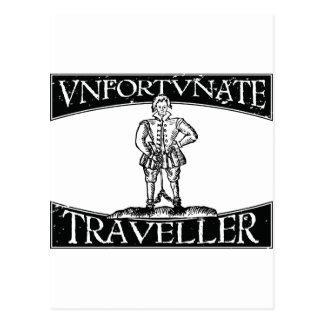 Distressed Thomas Nashe Unfortunate Traveller Postcard
