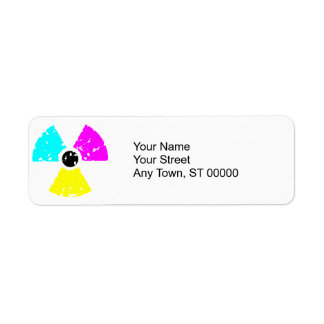 distressed toxic symbol CMYK Return Address Label