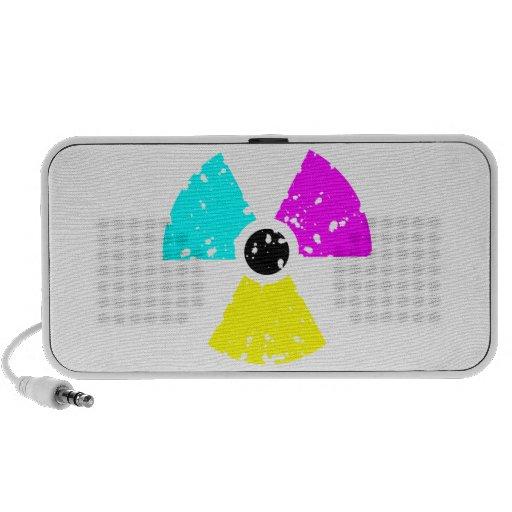 distressed toxic symbol CMYK iPhone Speaker