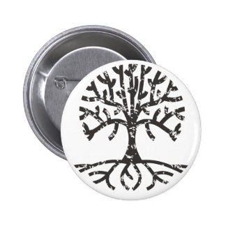 Distressed Tree II Pinback Buttons