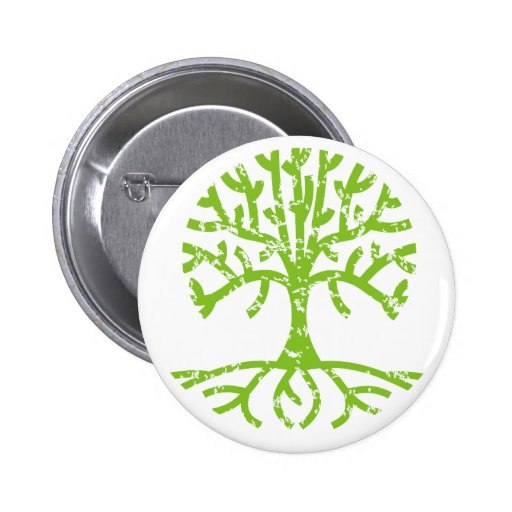 Distressed Tree III Buttons