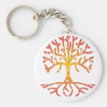 Distressed Tree IV Key Chains