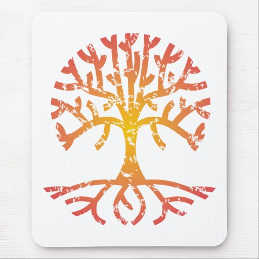 Distressed Tree IV Mouse Pad
