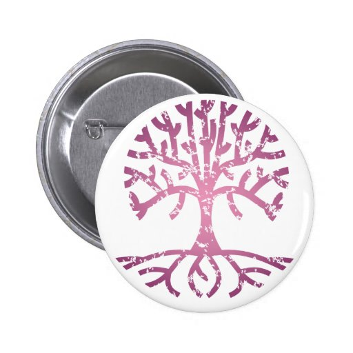 Distressed Tree V Button