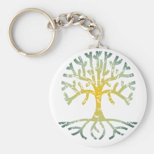 Distressed Tree VII Keychain
