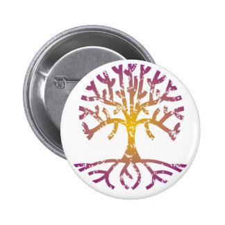 Distressed Tree VIII 2 Inch Round Button