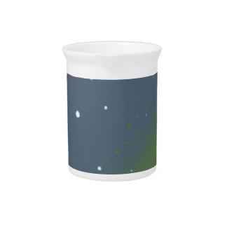 Distressed Tri-Color Stripes Beverage Pitcher