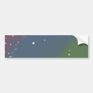 Distressed Tri-Color Stripes Bumper Sticker