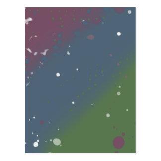 Distressed Tri-Color Stripes Postcard