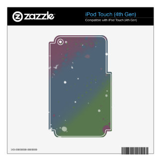 Distressed Tri-Color Stripes Skin For iPod Touch 4G