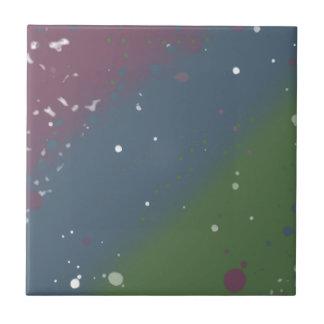 Distressed Tri-Color Stripes Small Square Tile