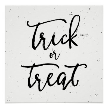 Halloween Themed Distressed Trick Or Treat Halloween Poster
