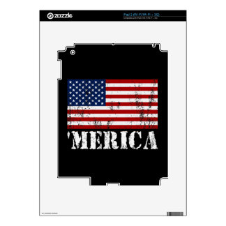 Distressed U.S. Flag 'MERICA iPad 2 Decal