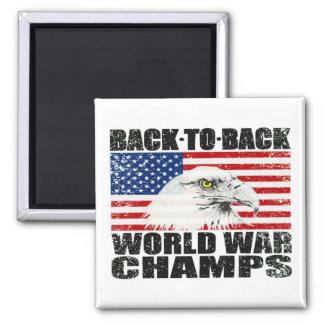 Distressed U.S. World War Champs Magnet Magnet