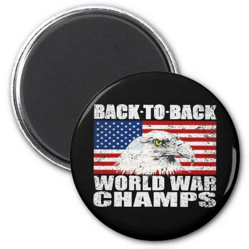 Distressed U.S. World War Champs Magnet Fridge Magnet
