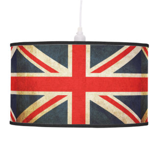Distressed UK Flag Union Jack Pendant Lamp