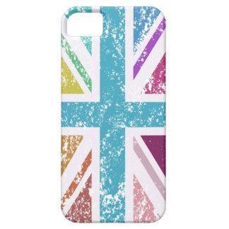 Distressed Union Flag Multicolored iPhone SE/5/5s Case
