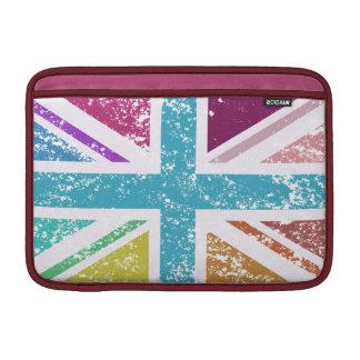 Distressed Union Flag Multicolored MacBook Sleeve