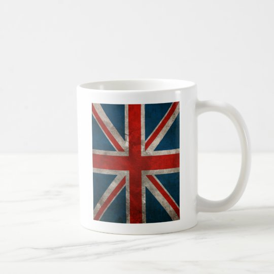 Distressed Union Jack Coffee Mug