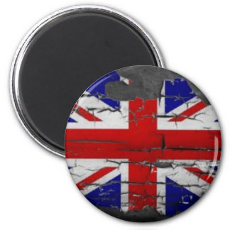 Distressed Union Jack Flag 2 Inch Round Magnet