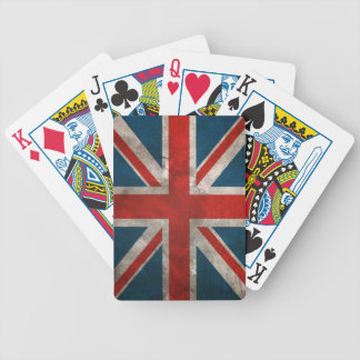 Distressed Union Jack Playing Cards