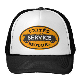 Distressed United Service Motors sign hat