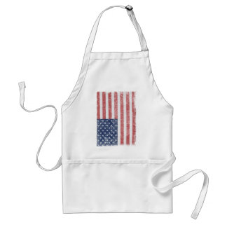 Distressed United States American Flag Aprons