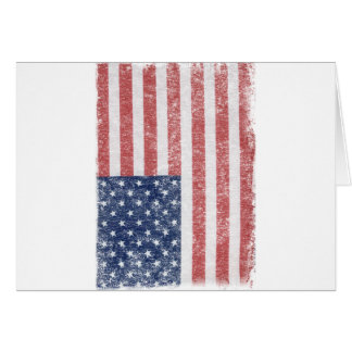 Distressed United States American Flag Card