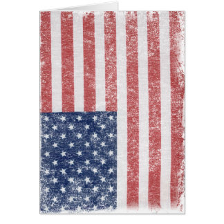 Distressed United States American Flag Greeting Card
