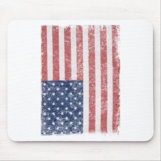Distressed United States American Flag Mouse Pads