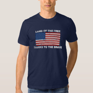 Distressed US Flag Land Of The Free T-shirt