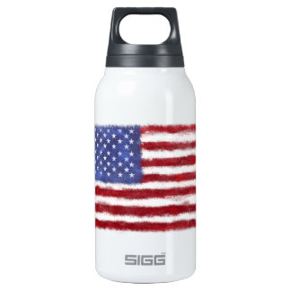 Distressed US Flag Thermos Water Bottle