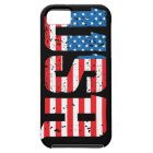 Distressed USA with American flag background iPhone SE/5/5s Case