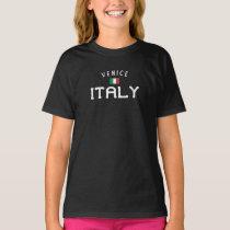 Distressed Venice Italy Girls' T-Shirt