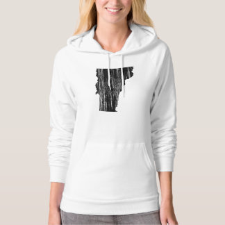 Distressed Vermont State Outline Hoodie