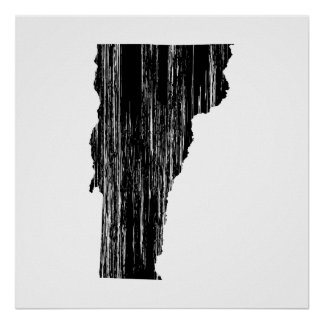 Distressed Vermont State Outline Print