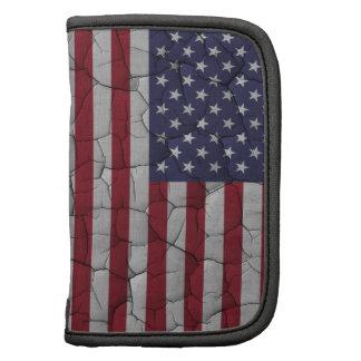 Distressed Vintage American Flag Folio Planners