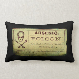 Distressed Vintage Arsenic Label Pillows
