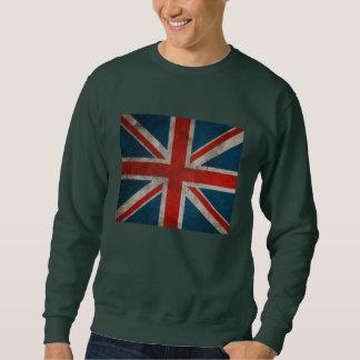 Distressed Vintage Classic British Union Jack flag Sweatshirt