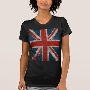 f63203d6dbc Distressed Vintage Classic British Union Jack flag T-Shirt