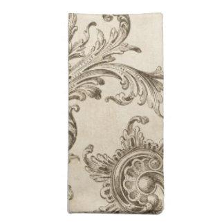 Distressed Vintage Flourish Napkin