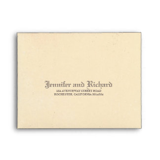 Distressed Vintage Gothic Wedding RSVP Envelope