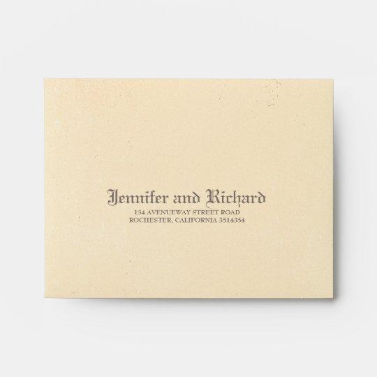 Distressed Vintage Gothic Wedding Rsvp Envelope