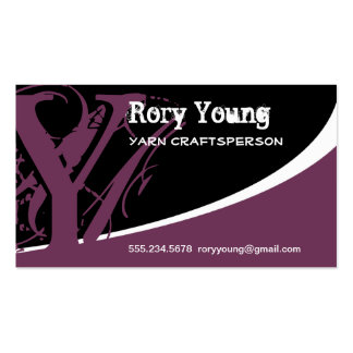 Distressed Vintage Initial Y Double-Sided Standard Business Cards (Pack Of 100)