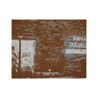 Distressed Vintage Look Photo of Brick Town Wall Canvas Print