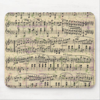 Distressed Vintage Music Mousepad