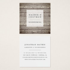 Distressed Vintage Reclaimed Wood Square Business Card at Zazzle